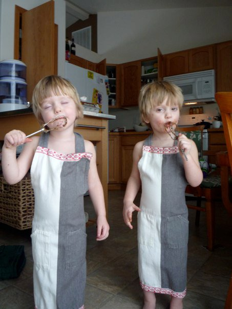 Twin Boys Cooking Healthy Food