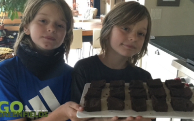 School Safe Roasted Garbanzo Beans and Bean Brownies