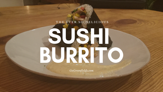 Delicious Sushi Burrito With A Little Sushi Go
